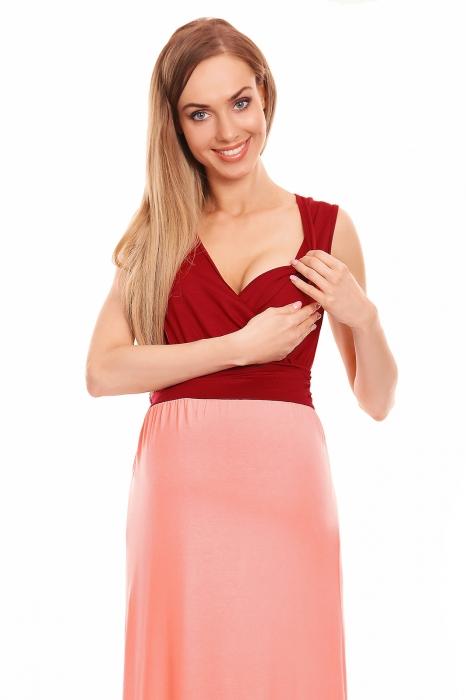 3f500ae31d2e Be Maamaa Tehotenské letné šaty - bordo růžové - Výbavička pre ...