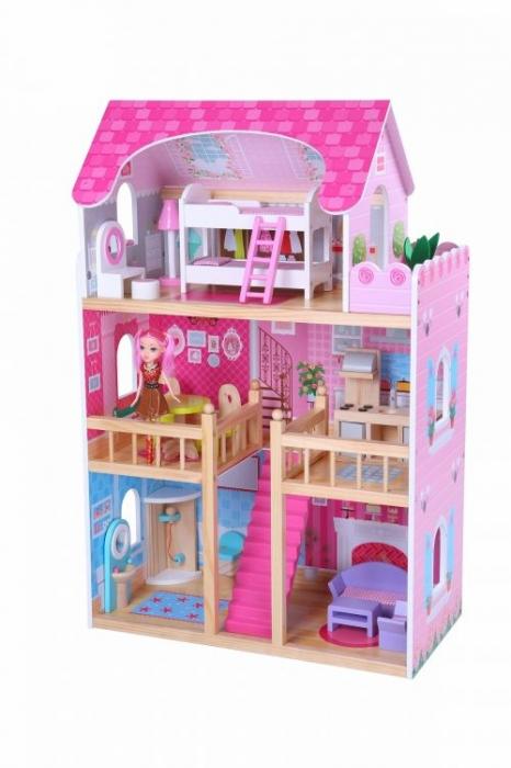 6927a57503ce6 Drevený domček pre bábiky ECO TOYS - Výbavička pre bábätko ...