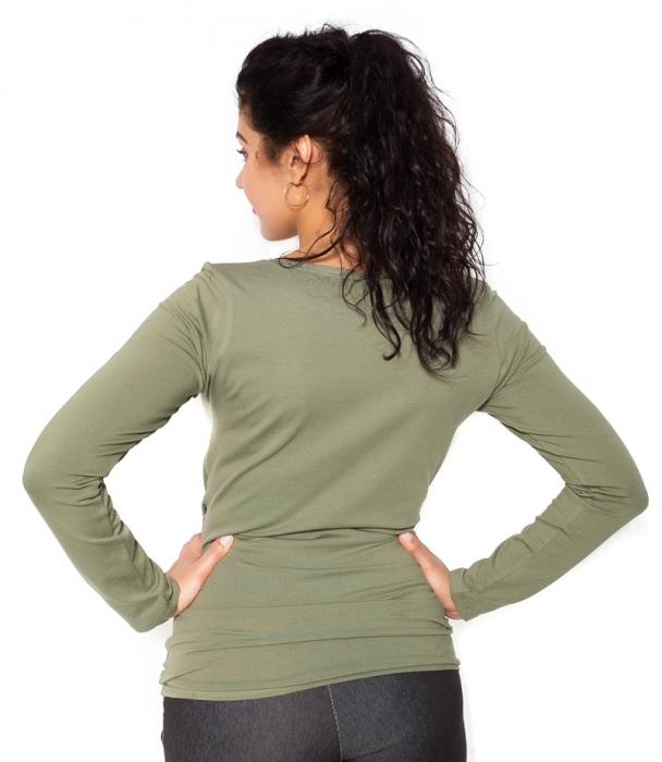 b1039657d70a Tehotenské tričko dlhý rukáv Baby - khaki