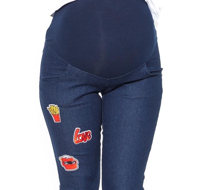 ecceaa1d14 Be MaaMaa Tehotenské nohavice   jeans s aplikacjou TOP - Výbavička ...