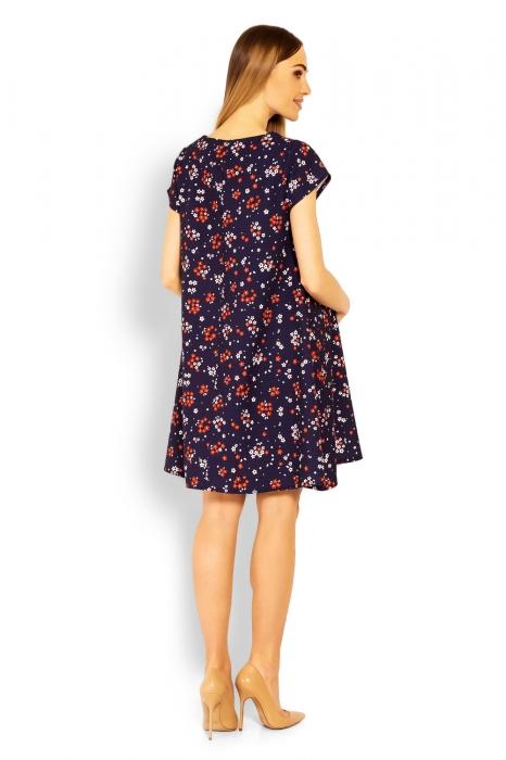 Elegantné voľné tehotenské šaty 8b24892e1bd