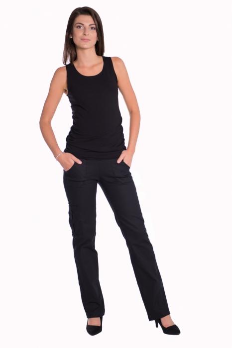 c83070e6cc0f ... tehotenské nohavice s vreckami - čierne. Obrázek