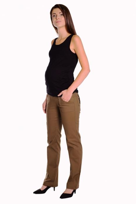 5b60fe7f597d ... tehotenské nohavice s vreckami - khaki. Obrázek