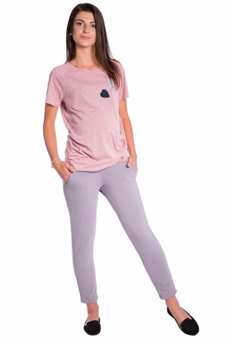 239ff6e51f09 Be MaaMaa Tehotenské 3 4 nohavice s odpárateľným pásom - šedé. Obrázek