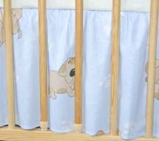 Krásny volánik pod matrac - Psík modrý