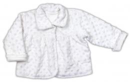 Kabátik NICOL Minka ELEGANT BABY GIRL - biely