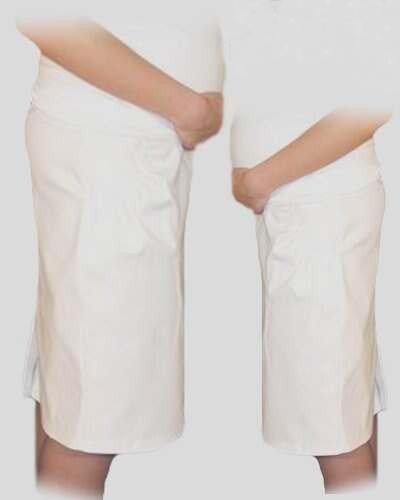 b8c58c757c82 Be MaaMaa Tehotenská športová sukňa s vreckami - biela - Výbavička ...